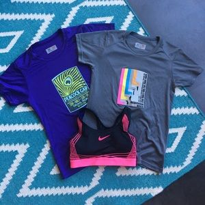 EXCELLENT Nike Bra + 2 running shirts